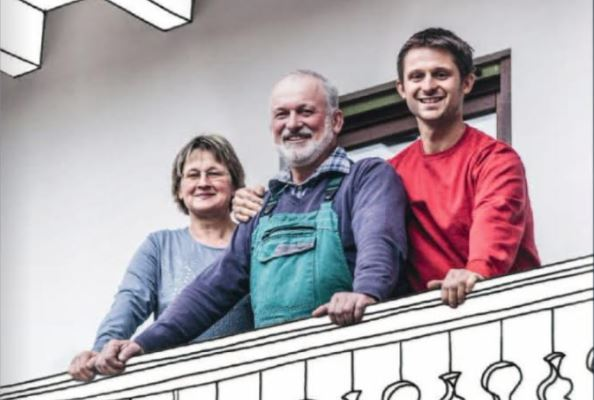 Jörg Huber und Familie